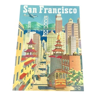 Vintage San Francisco Stretched Canvas Poster - Rare For Sale