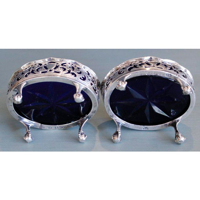 18th Century English George III Period Sterling Salt Cellars - A Pair - Image 7 of 11