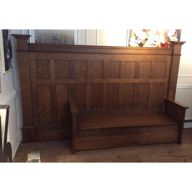 Vintage Sawn Oak Bench - Image 3 of 11