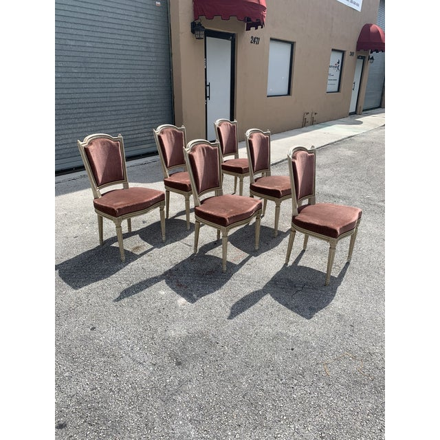 1910s 1910s Vintage French Louis XVl Solid Mahogany Dining Chairs - Set of 6 For Sale - Image 5 of 13