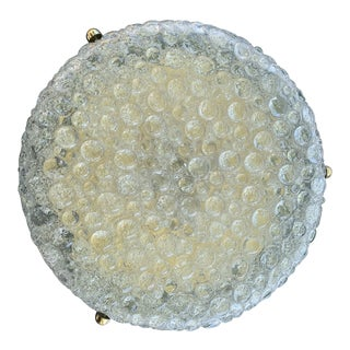 1960s Doria Bubble Glass Flush Mount Sconce For Sale