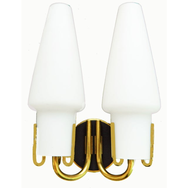 1950s Arlus Mid-Century French Brass Sconces - A Pair For Sale - Image 5 of 5