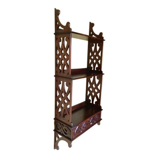 1980s English Chippendale Wall Shelf For Sale