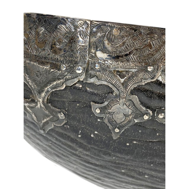 Metal Mid 18th Century Coco De Mer Embellished and Mounted With Silver For Sale - Image 7 of 10