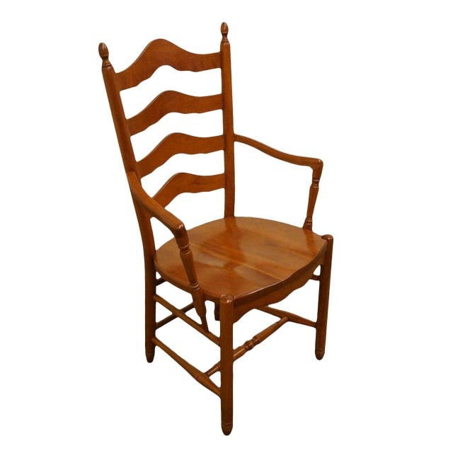 Late 20th Century Vintage Tom Seely Cherry Ladder Back Dining Chair For Sale