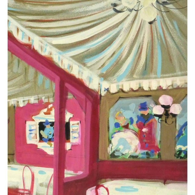 Traditional Am. Rémy, Vintage French Gouache - Paris Cabaret For Sale - Image 3 of 5