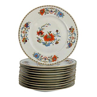 1980s Limoges Vieux Chine Dinner Plates, Set of 12 For Sale