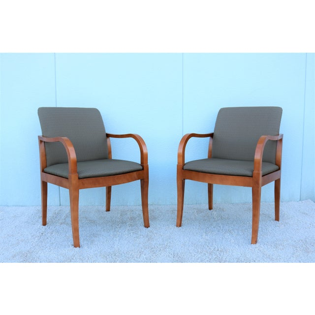 19th Century Scandinavian Modern Gunlocke Guest Dining Arm Chairs - Set of 4 For Sale In New York - Image 6 of 13