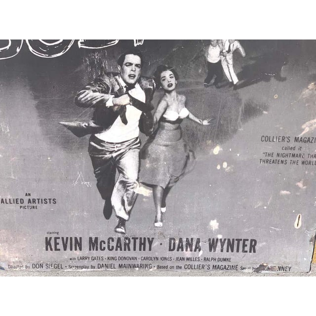Invasion of the Body Snatchers, Black & White Movie Theatre Poster, 1956 For Sale - Image 11 of 13