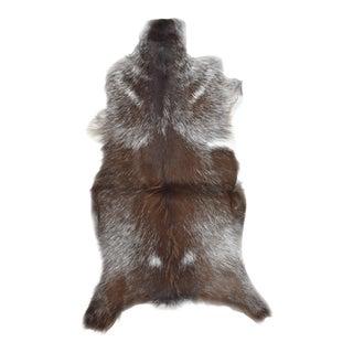 """Handmade Goat Skin Pelt - 1'10"""" x 3'0"""""""