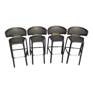 Dedon Seashell Barstools - Set of 4 For Sale