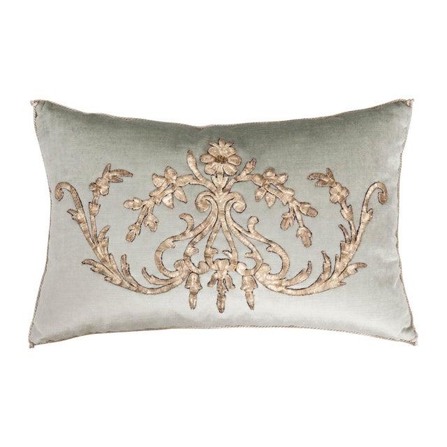 2010s B. Viz Design Antique Empire Textile Pillow For Sale - Image 5 of 5