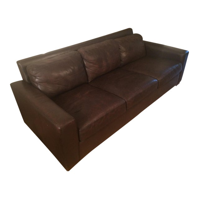 Design Within Reach Portola Leather Sofa For Sale