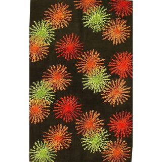 Pasargad Ny Modern Hand Tufted Wool Rug - 5′3″ × 8′5″ For Sale