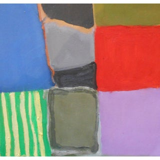 """""""Bold Squares"""" Contemporary Abstract Oil Painting by Ann Cameron McDonald For Sale"""