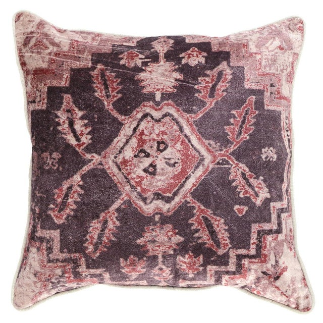 Red Hollywood Regency Classic Home Vera Wine Pillow For Sale - Image 8 of 8