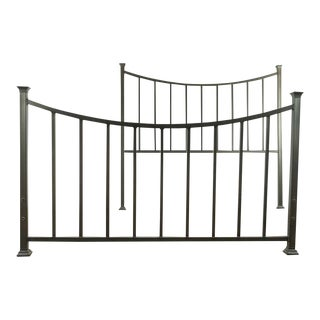 Contemporary Restoration Hardware Metal Queen Size Bed Frame