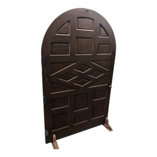 Spanish Style Oversized Arched Front Door For Sale