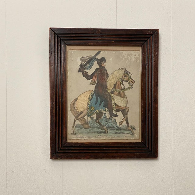 Early 19th Century Print of Knight on a Horse, England Circa Early 19th Century For Sale - Image 5 of 5