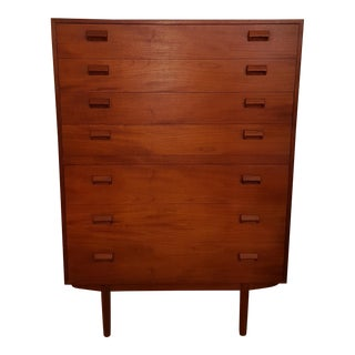 1960s Danish Modern Borge Mogensen Teak Highboy Dresser For Sale