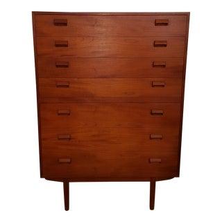 1960s Danish Modern Borge Mogensen Teak Highboy Dresser For Sale