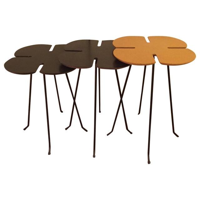 Vintage Clover Leaf Nesting Tables - Set of 3 - Image 1 of 11