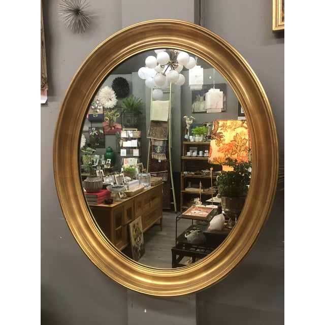 Mid 20th Century Mid 20th Century Vintage Gold Leaf Mirror For Sale - Image 5 of 5
