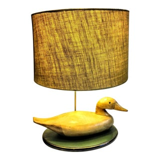 Vintage Decoy Table Lamp For Sale