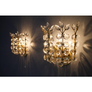 Very Rare Pair of Wall Sconces by Oswald Haerdtl for Lobmeyr, Austria 1955 For Sale