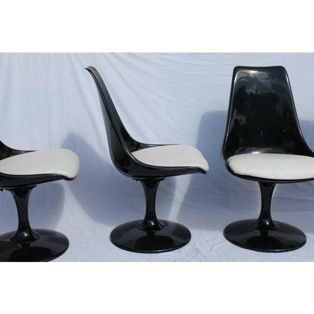 1960s Knoll-Style Black Dining Set - Image 8 of 11
