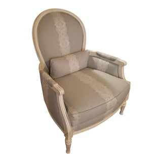Modern Ethan Allen Parchment Chair For Sale