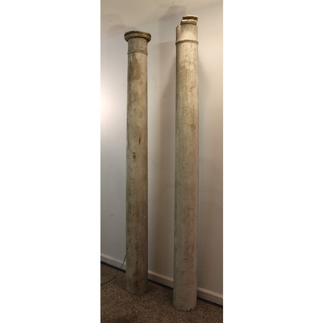 1930s Salvaged Architectural Columns - A Pair - Image 3 of 11