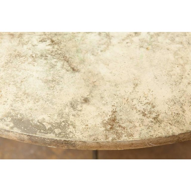 French Mid-Century Faux Marble Tripod Drink Table - Image 6 of 6