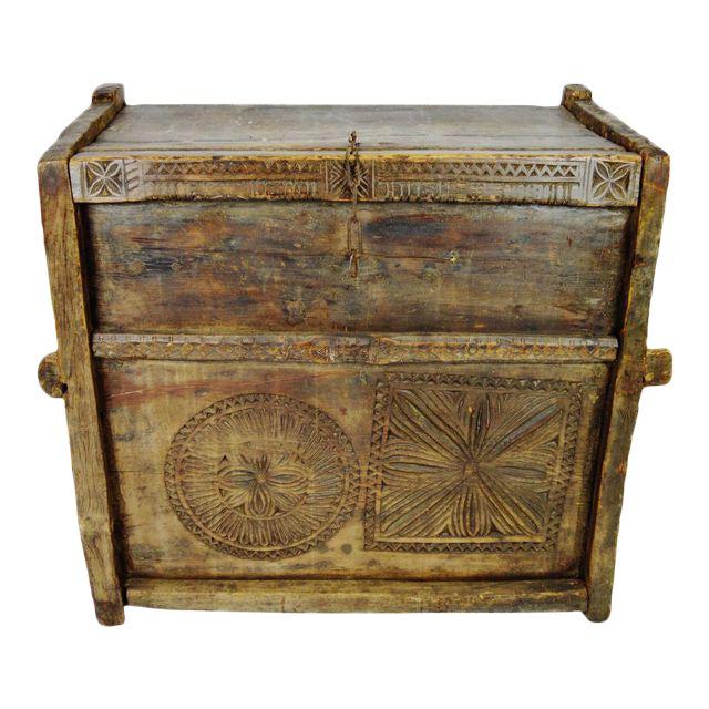 Ancient Kafiristan Wooden Dowry/Treasure Chest - Image 1 of 10