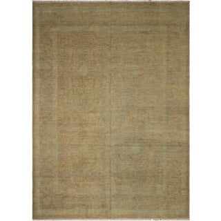 Kafkaz Peshawar Rudy Gray/Blue Hand-Knotted Rug - 12'1 X 15'2 For Sale