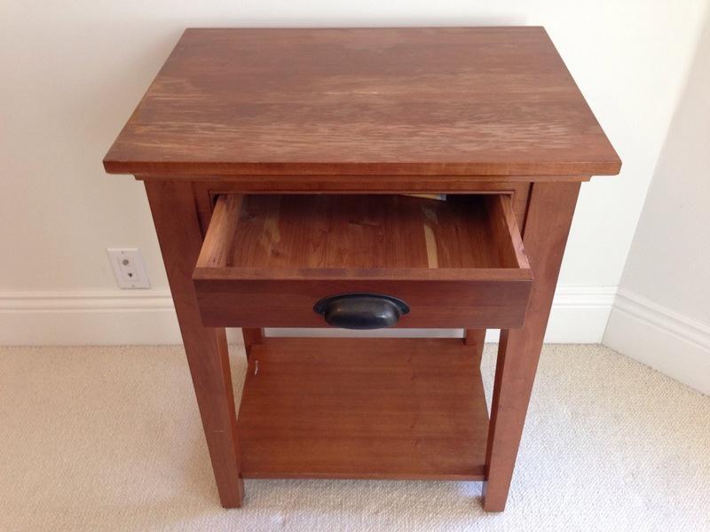 Restoration Hardware Cherry Wood End Table Chairish