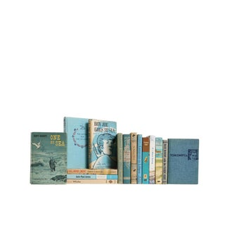 Children's Nautical : Set of Fifteen Decorative Books For Sale