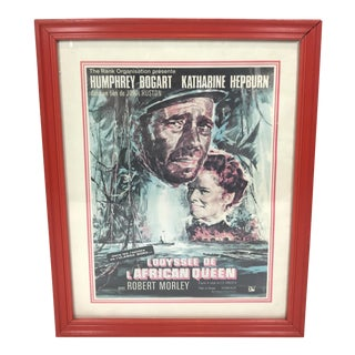 Vintage French African Queen Poster, Framed For Sale