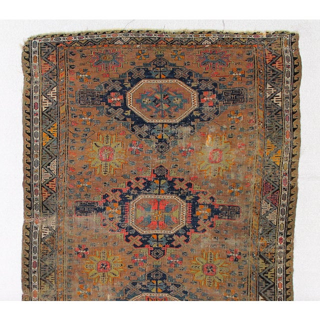 Antique Persian Sumak Kilim Rug- 5′ × 7′2″ - Image 6 of 6