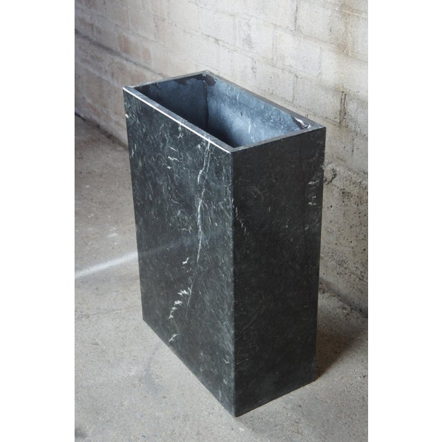 Black Mid Century Modern Black Italian Marble Console or Sofa Table For Sale - Image 8 of 10