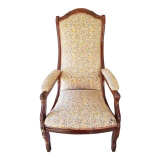 Victorian Women's Slipper Chair For Sale