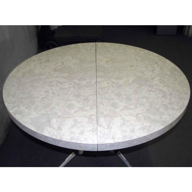 1950s Vintage Round White Table For Sale - Image 10 of 10