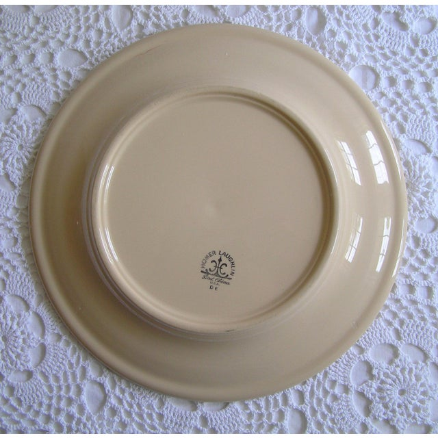 A kitchen workhorse, this red and cream restaurant china platter by Homer Laughlin is nearly indestructible. Perfect for...