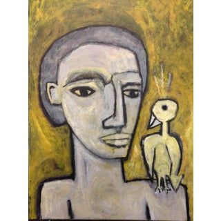 Man With Bird by Daniel Balter Rip For Sale
