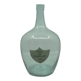 High-End Glass Bottle From France With Label From the Exclusive Chateau De Pommard in Burgundy For Sale