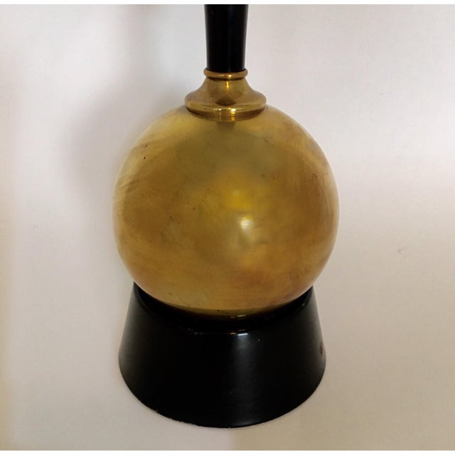 Mid-Century Brass Ball Lamp - Image 3 of 5