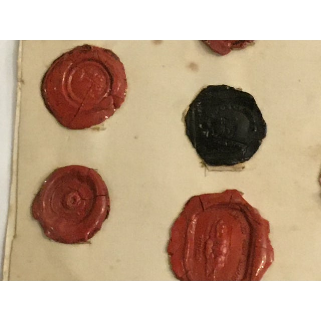 Red Antique English 29 Red and Black Intaglios Wax Seals For Sale - Image 8 of 12