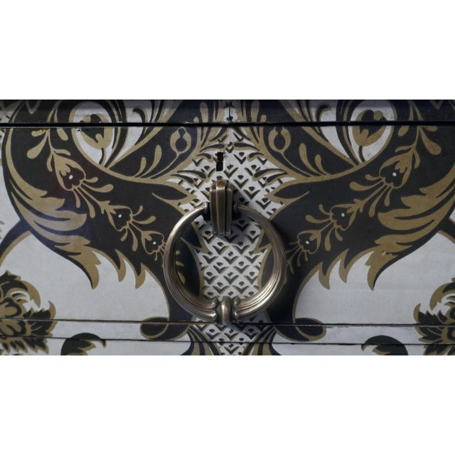 Late 19th Century Wallpapered Antique Chest For Sale - Image 5 of 9
