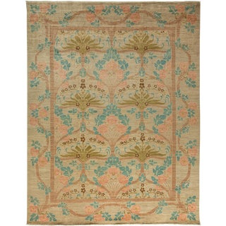 "Arts & Crafts Hand Knotted Area Rug - 8'10"" X 11'5"""