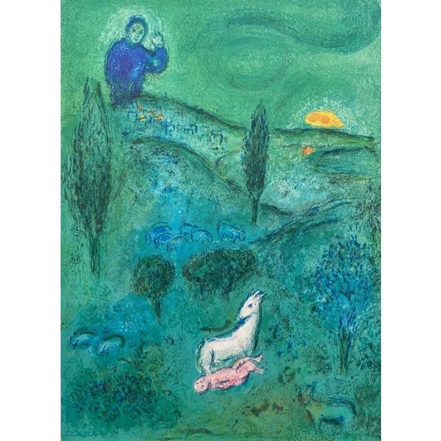 1977 Discovery of Daphnis by Lamon, Daphnis & Chloe by Marc Chagall Limited Edition Print For Sale